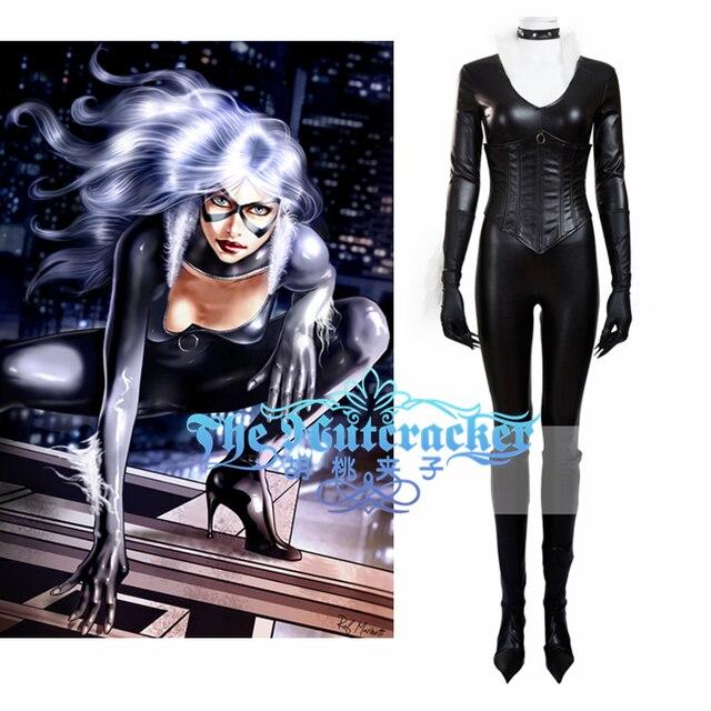 American Film Spider Man Black Cat Cosplay Costume Adult Black