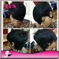 Парики 2015 качества 7а боб для черной женщины человека лучшее волосы короткие с ребенка волосы отбеленными узлы быстрая доставка