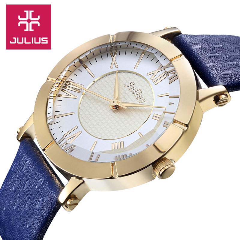 Top Luxury Julius Brand Watches Women Dress Watch ladies Quartz leather Wrist watch Fashion casual Ladies clock relogio feminino classic simple star women watch men top famous luxury brand quartz watch leather student watches for loves relogio feminino