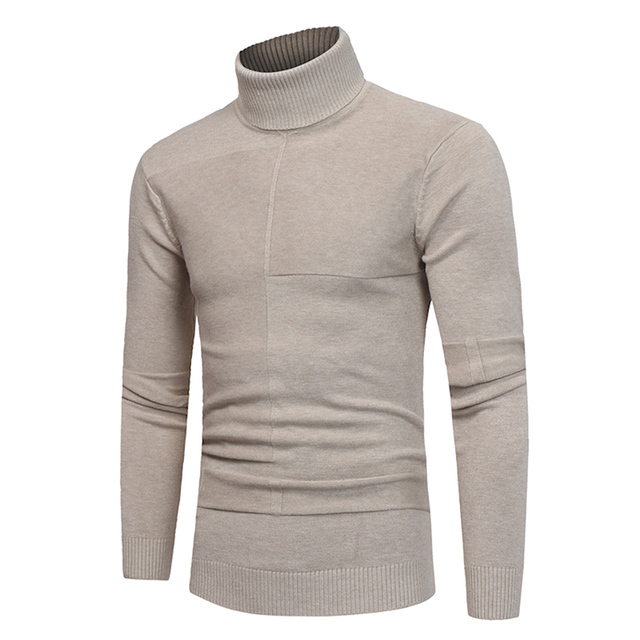 3c1787d0aee0e3 2019 Autumn Winter Soft Knitted Sweaters Plus Size M-3xl Fashion Casual  Long Sleeve Pullovers Knitwear Turtleneck Men Sweater