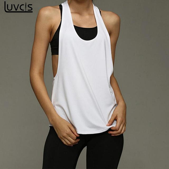846af5ea17406d Luvcis 2017 Summer Sleeveless Vest Casual Shirts Breathable Womens Vest  Fitness Exercise Tank Tops Singlet Slim Top Tee NS1446