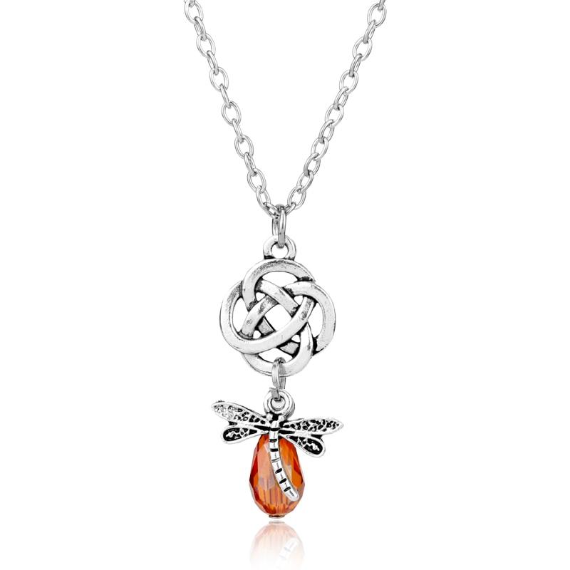 dongsheng Fashion Outlander Necklaces Knot Cross Dragonfly Scottish Irish Gaelic Pendant ...