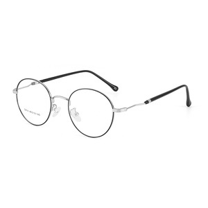 Image 5 - BCLEAR 2019 New Man Woman Retro Large Round Glasses Metal Alloy Eyeglass Frame Black Silver Gold Spectacles Eyeglasses Optical