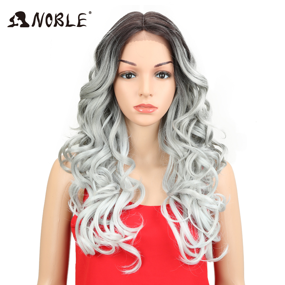 Noble Soft Black Silver Grey Wig 24