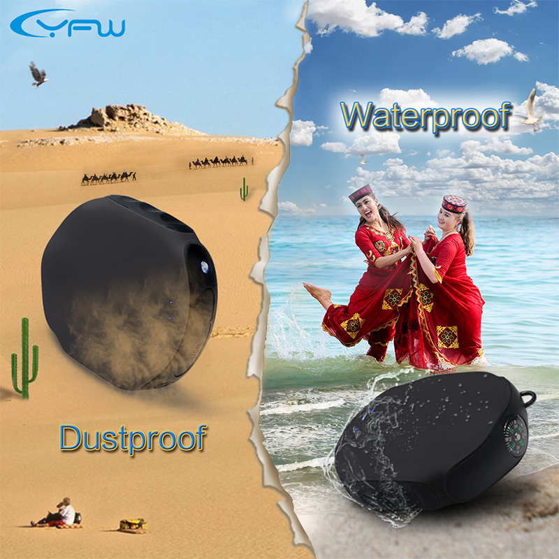 YFW 10000mAh Outdoor Waterproof Power Bank Shockproof Portable Charger With Compass External Battery Mobile Power for Phones