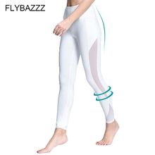 New Women Yoga Compression Pants Sexy Mesh Leggings Elastic Tights Fashion Capri with Pocket for Workout Gym Jogging