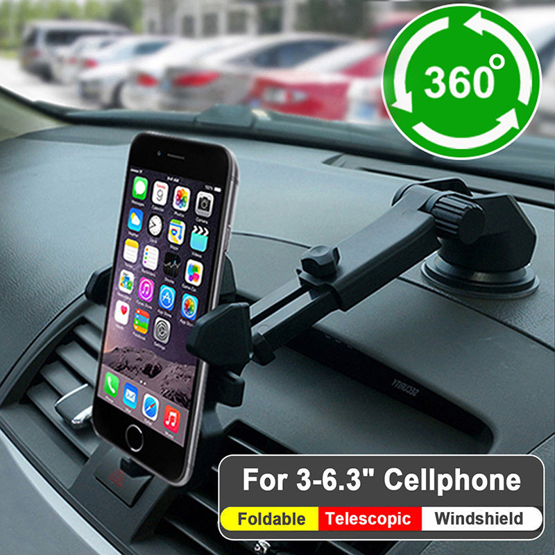 Mobile Phone Holders & Stands Brave 1pcs Universal Car Phone Holder 360 Degree Flexible Dashboard Windshield Gps Mount Desk Table Cell Mobile Phone Holder Stand