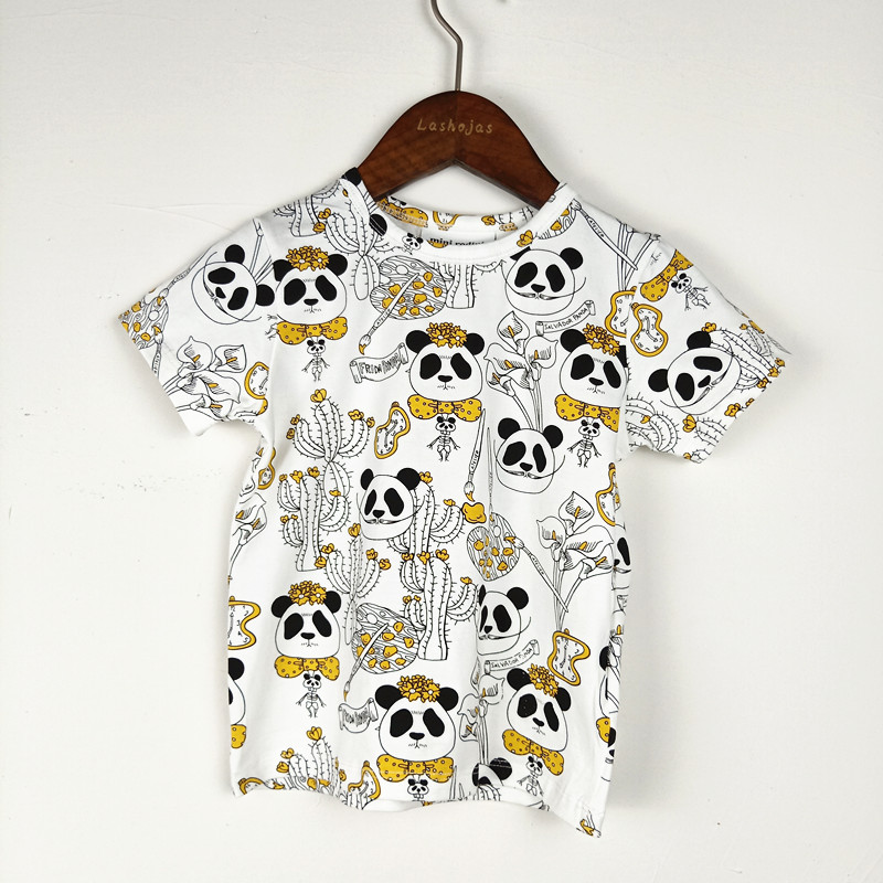 Bobozone Panda T-shirt For Kids Baby Boys Girls