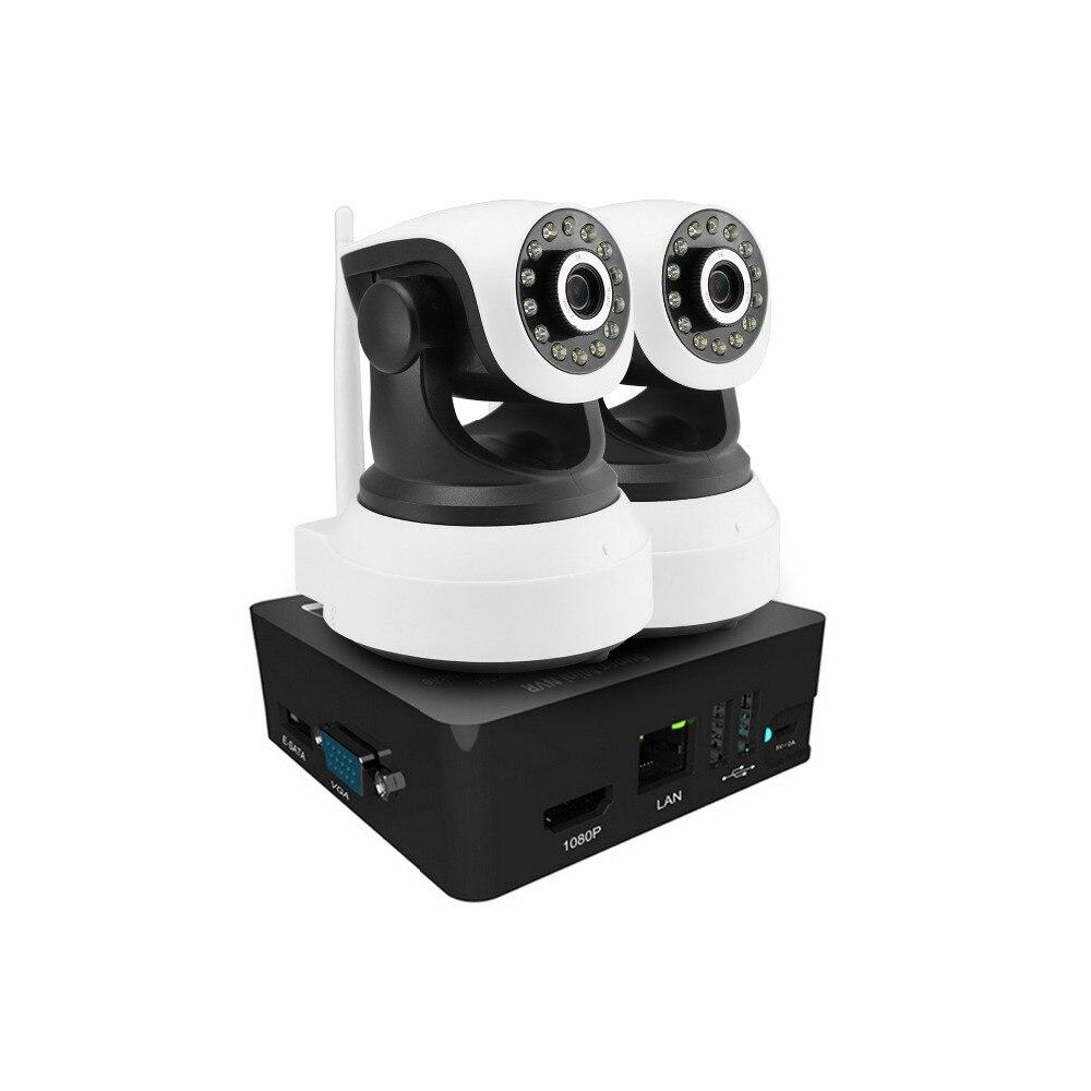 2CH 960 P 1.3MP IP caméra système PTZ rotation panoramique CCTV sécurité extérieure HD réseau vidéo P2P Surveillance 8CH Mini kit de caméra NVR