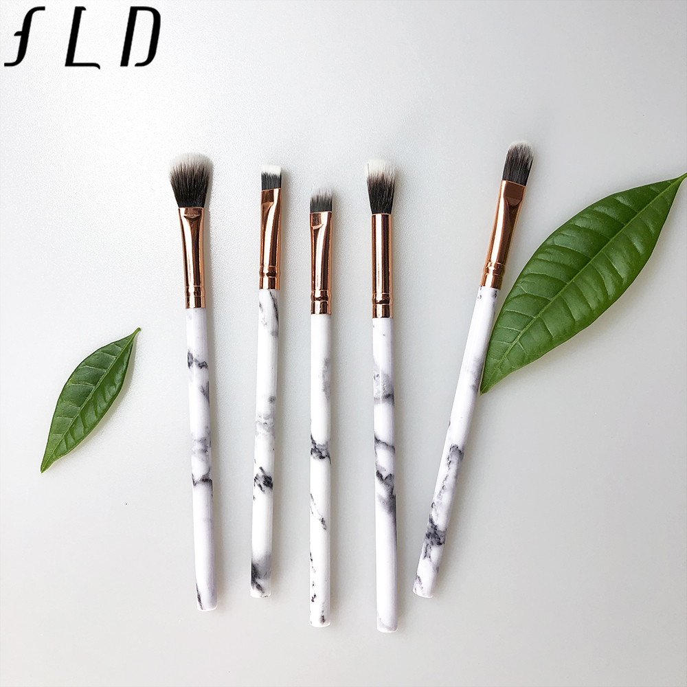 FLD 5pcs Makeup Brushes Set Face Foundation Eyebrow Eyeliner Blush Powder Cosmetic Concealer Professional Beauty Tool