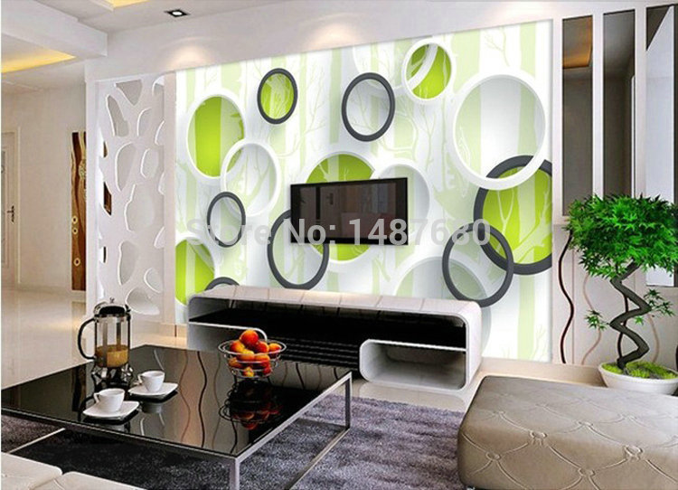 Any Size Simple Ring Wallpaper European Minimalist Bedroom Living Room Tv Backdrop Ktv Stripes Abstract Mural Wallpape W In Wallpapers From Home