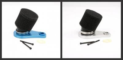 Metal mid quick detachable elevation air filter KIT FOR 1/5 losi 5ive T rovan LT KING MOTOR X2 rc car parts