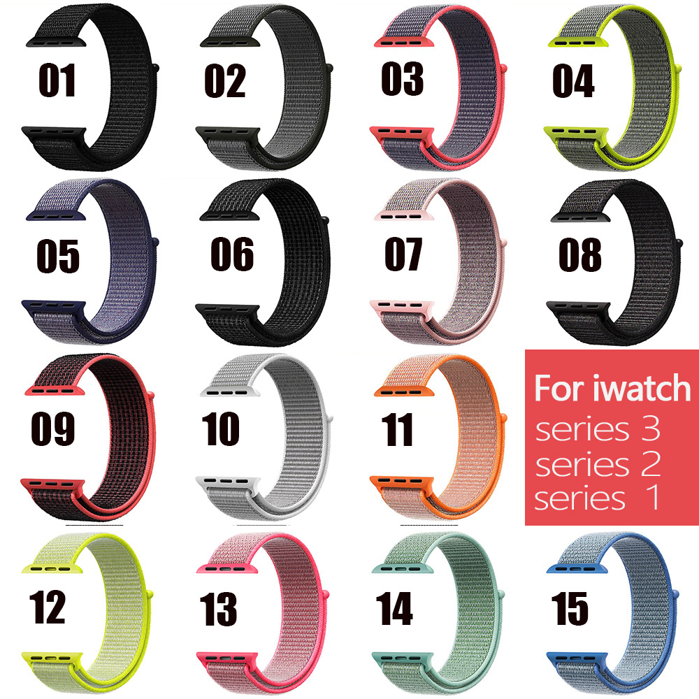 Band For Apple Watch Series 3/2/1 38MM 42MM Nylon Soft Breathable Replacement Strap Sport Loop for iwatch series 4 40MM 44MM apple watch band 38mm 42mm secbolt metal replacement wristband sport strap for apple watch nike series 3 series 2 series 1