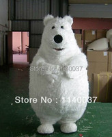 mascot fat polar bear mascot costume for kids party Adult Size Polar Bear Animals Mascotte Outfit Suit