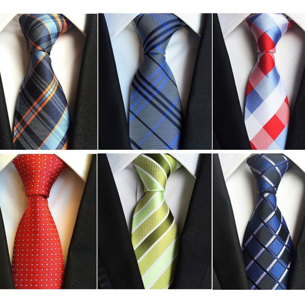 32 COLOR Classic Men/'s Silk Tie Necktie Stripe Woven JACQUARD Neck Ties Fashion