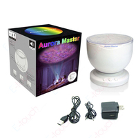 New Arrival Romantic Aurora Master 7 Colorful LED Light Ocean Wave Projector Speaker Lamp For Holiday