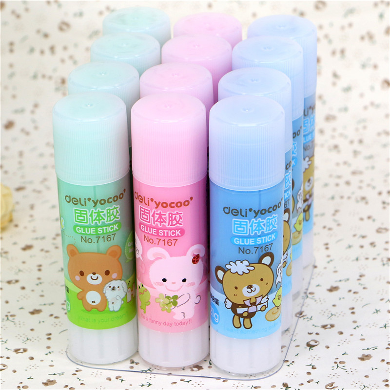 Cartoon Bear Solid Glue Sticks Cute Adhesive Stick Cartoon Solid Glue For School Home Use Glue School Glue 21g