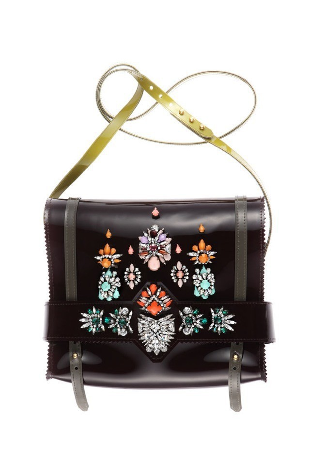 shourouk bag rainbow 2014 new transparent style winter fashion female colored gems Red single shoulder - Shourouk and retail store