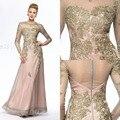 Luxo Champagne Renda Mãe dos Vestidos de Noiva 2017 Nova chegada Sexy O Pescoço A Linha de Mãe da Noiva Suits Pant longo
