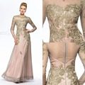 Luxury Champagne Lace Mother of the Bride Dresses 2017 New Arrival Sexy O-Neck A-Line Mother of the Bride Pant Suits Long