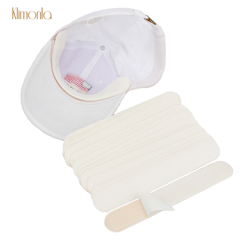 Wholesales 100pcs White Disposable Hat Pads Protector Absorbing Perspiration Cotton Makeup Tools For Unisex Cap Collar Pads