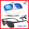 Free Shipping 10pcs CO13  Square Metal Driving Poliot Eyewear Glasses Sunglass Polarized Clip On Sunglasses   -8 optional colors
