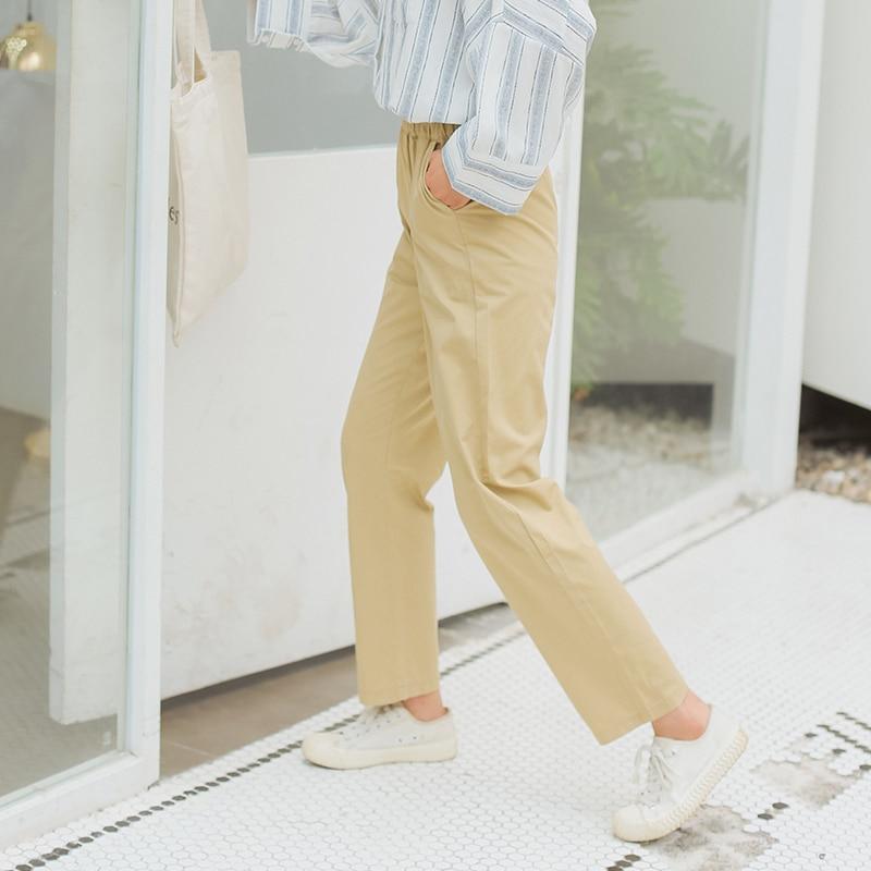 High waist casual retro loose   wide     leg     pants