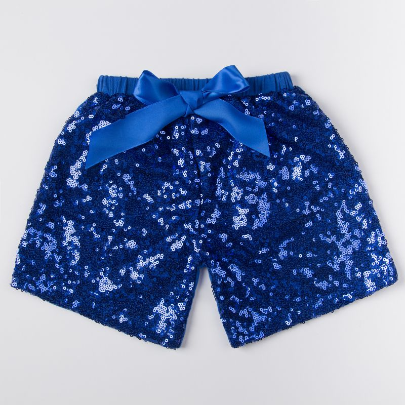 Girls BLUE Sparkle Sequin SHORTS girls birthday outfit Royal Blue 4th of July sequin shorts ...