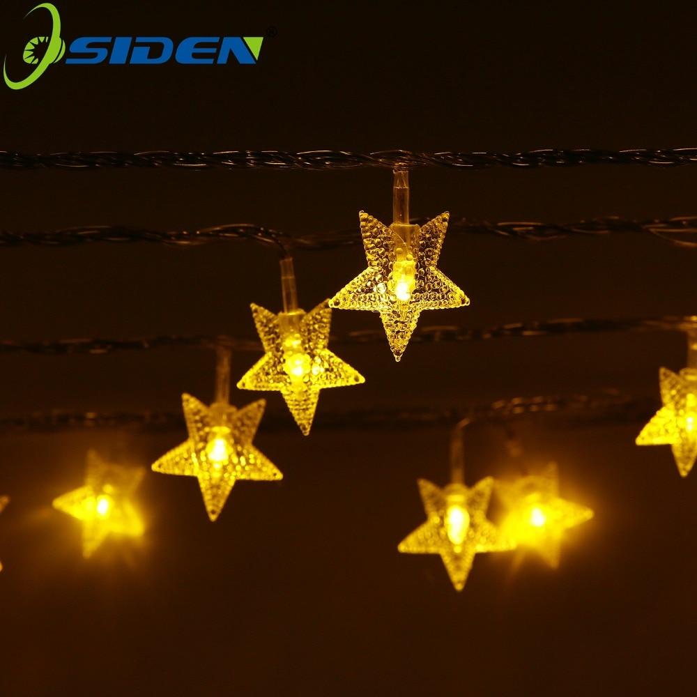 OSIDEN LED Star Fairy String Light 10M 100Led 220V 110V för bröllopsdekorationer Julgransdekorationer Xmas lights Holiday