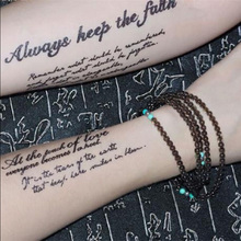 Removable English Quotes Temporary Tattoo Sticker