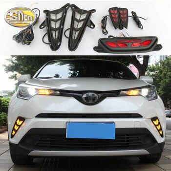 For Toyota CHR IZOA C-HR LED DRL Daytime running lights fog lamp cover Rear braking driving lamp rear bumper lights