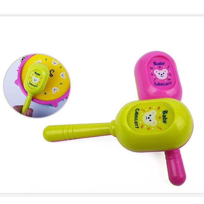 5 Pcs/Set Baby Kids Musical Instruments Boys Girls Roll Drum Trumpet  Handbell Set Children Educational Toys Gifts YJS Dropship