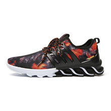 Autumn Men's Sport Running Shoes Trend Male Air Mesh Breathable Men Shoes Sneaker Flats Classic Outdoor Graffiti Camping Jogging