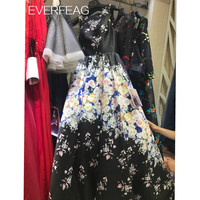 Long Sleeves Ball Gown Premios Goya 2016 Celebrity Dresses Evening Dress