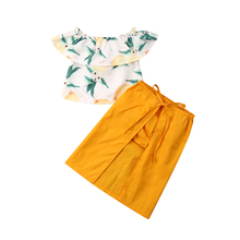 2019 Fashion Toddler Kid Baby Girls Dress Summer Off Shoulder Floral Crop Tops+Skirt+PP Shorts Casual Clothes Set new