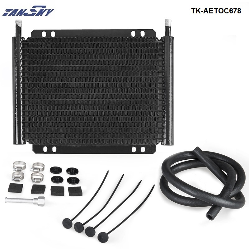 Derale 13503 19 Row Series 8000 Plate /& Fin Transmission Cooler Kit 20,500 GVW