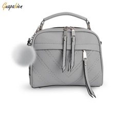 New Arrival Spring Summer Women Shoulder Bag Hairball Handbags Small Leather Satchels Crossbody Bags Women Messenger Bag