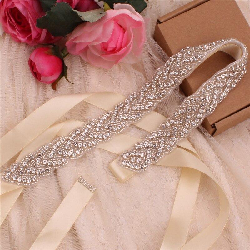 Prachtige Strass Riem Hand Bruiloft Riemen Crystal Parel Bruids Riem Voor Avondjurk Wedding Sash