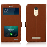 Invisible Magnet Genuine Leather Case For Xiaomi Redmi Note 3 Note3 Pro Mobile Phone Bag Flip