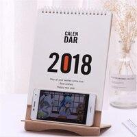 2018 милый мультфильм Деревянный стол настольный календарь таблица расписания офисного плана случайное мобильного телефона держатель