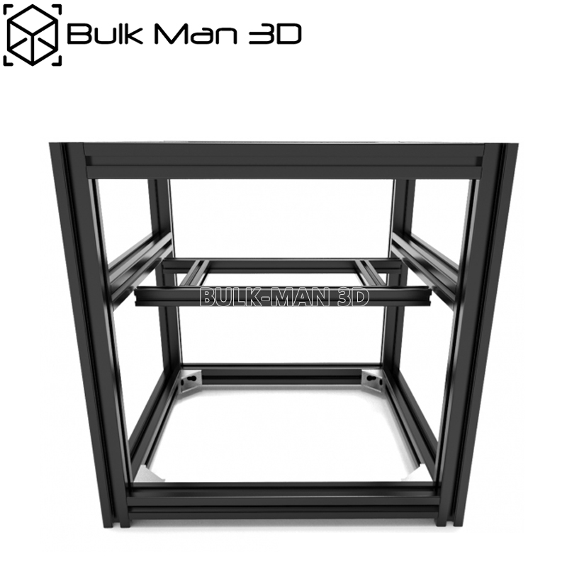 Complete Hypercube Evolution Frame Kit HEVO Black Anodized Extrusion Kit With Mounting Accessories
