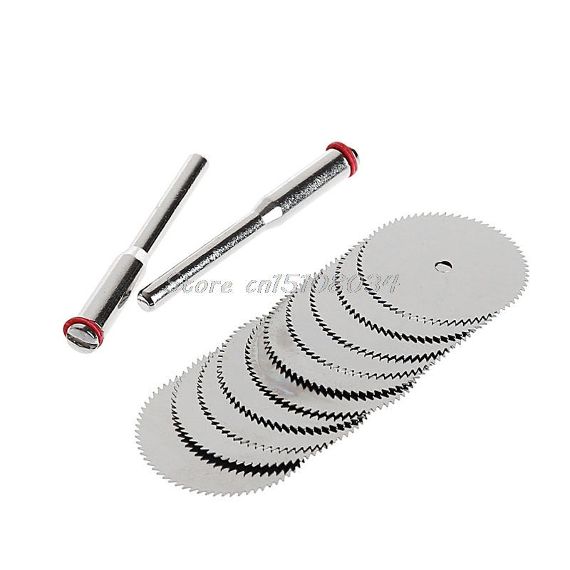 10 X 22mm Wood Saw Blade Disc + 2 X Rod Dremel Rotary Cutting Tool S08 Wholesale&DropShip