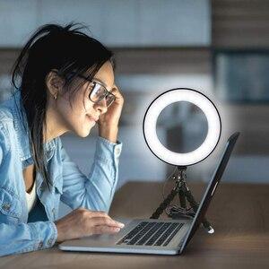 Image 3 - Đèn LED Selfie Vòng Ánh Sáng Mờ Với Giá Đỡ Đầu Mini Linh Hoạt Bọt Biển Bạch Tuộc Chân Đế Tripod Trang Điểm Video Sống Phòng Thu Photograp