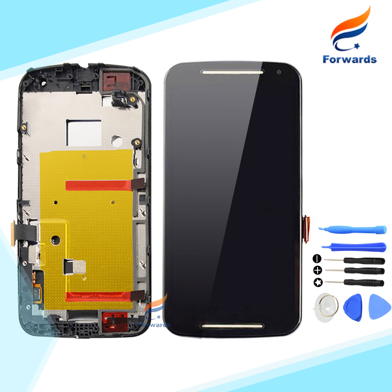 For Motorola MOTO G2 2nd LCD Screen Display with Touch Digitizer Frame Tools Assembly XT1063 XT1064 XT1068 XT1069 free shipping аксессуар чехол флип samsung galaxy a7 sm a700 brera slim blue 47453