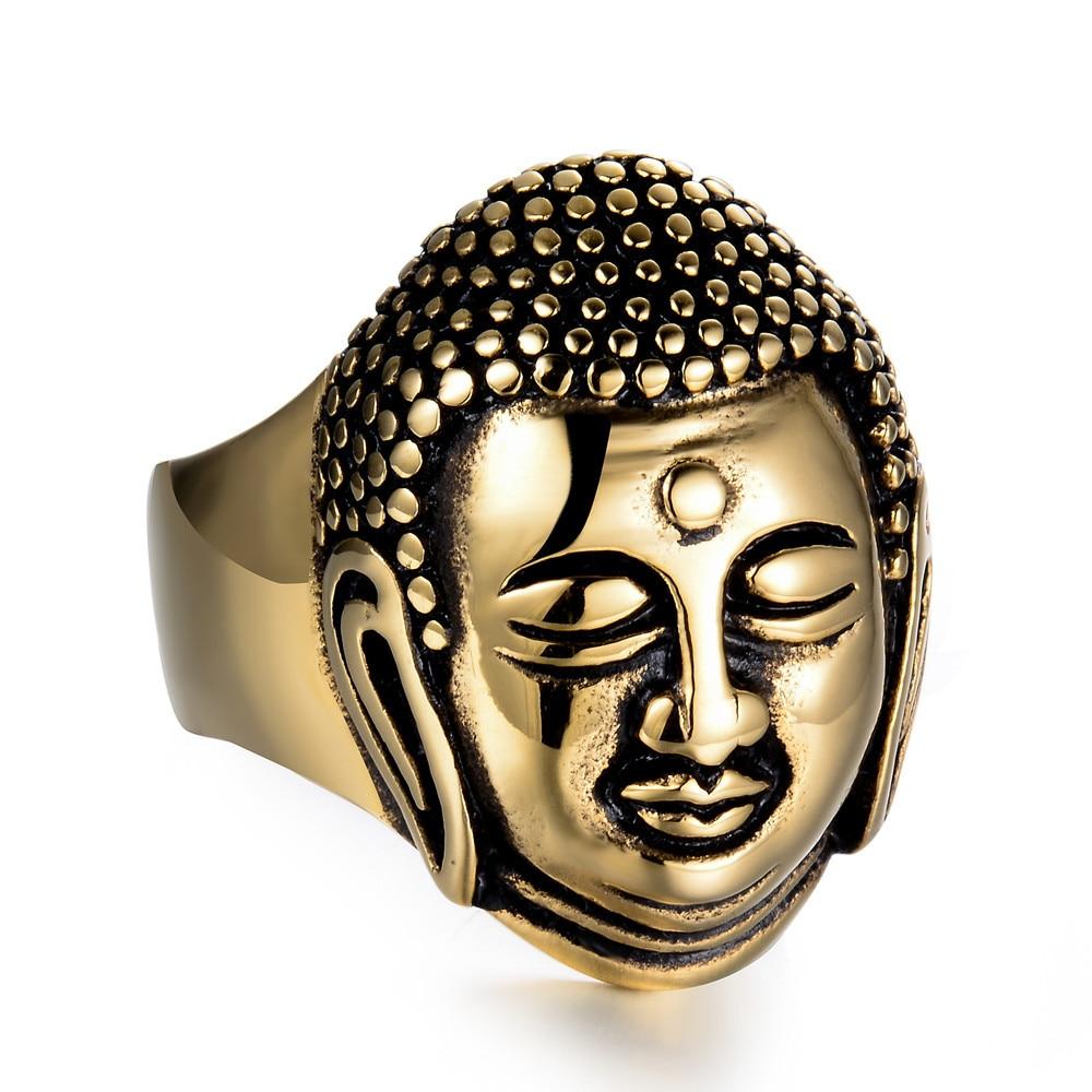 Men's Buddha Stainless Steel Ring 2