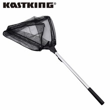 KastKing 90cm,160cm,210cm Triangular Folding Fishing Landing Net Aluminum 3 Section Extending Pole Handle E-glass Fishing Net