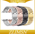Pulseira de relógio de aço inoxidável das mulheres dos homens pulseiras de relógio para apple iwatch Pulseira banda 38mm Adaptador 42 Mm Prata Ouro Preto PG1116