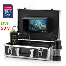 GAMWATER 20M 50M 7″inch DVR Recorder Underwater Video  Fishing Camera System 0-360 Degree View, Remote Control, 14x White Lights