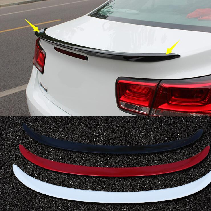 Fedele Caso Di Qualità Per Chevrolet Malibu 2012-15 Primer Grigio Dipinto Car Rear Trunk Spoiler Ala Nessuna Perforazione Necessario (nota: Il Colore) Per Soddisfare La Convenienza Delle Persone