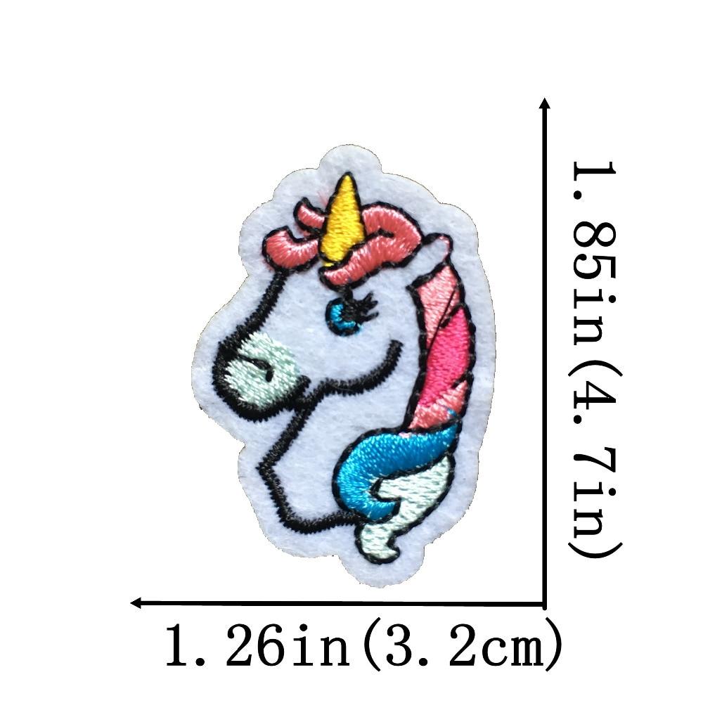 2017 Nuevo azul Rosa caballo unicornio parches coser hierro en ...